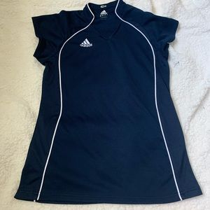 Adidas navy and white soccer / athletic top